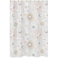 Sweet Jojo Designs Celestial Shower Curtain in Pink/Gold