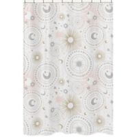 Sweet Jojo Designs Celestial Shower Curtain In Pink Gold