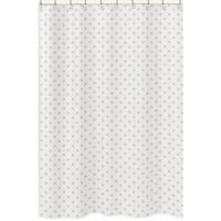 Sweet Jojo Designs Celestial Star Print Shower Curtain in Gold