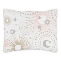 Sweet Jojo Designs Celestial Standard Pillow Sham in Pink/Gold