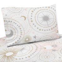 Sweet Jojo Designs Celestial 3-Piece Twin Sheet Set in Pink/Gold