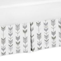 Sweet Jojo Designs Mod Arrow Crib Skirt in Grey/White