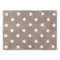 Lorena Canals Stars 4'x5' Area Rug in Linen/White