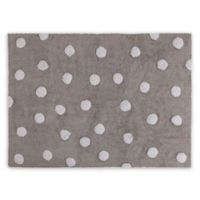 Lorena Canals Polka Dot 4'x5' Area Rug in Grey