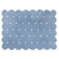 Lorena Cs Biscuit 4 X 5 3 Area Rug In Blue