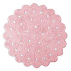 Lorena Canals Biscuit 4' Round Area Rug in Pink