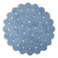 Lorena Canals Biscuit 4' Round Area Rug in Blue