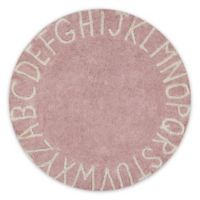 Lorena Canals Vintage ABC 5' Round Area Rug in Beige/Natural