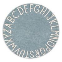 Lorena Canals Vintage ABC 5' Round Area Rug in Blue/Natural