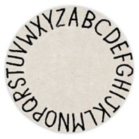 Lorena Canals Vintage ABC 5' Round Area Rug in Natural/Black