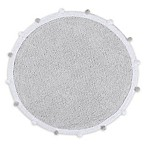 Lorena Canals Bubbly Round Area Rug in Grey