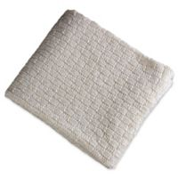 Brielle Glamour Throw Blanket in Ivory/Gold