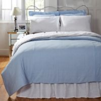 Amity Home Elizabeth Seersucker Twin Duvet Cover in Blue/White