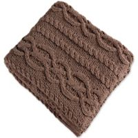 Brielle Chenille Braid Throw Blanket in Khaki