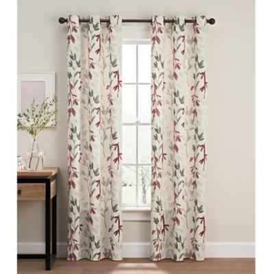 Caprice Grommet Window Curtain Panel Pair