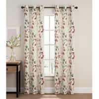 Caprice 84-Inch Grommet Window Curtain Panel Pair in Red