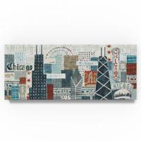 Trademark Fine Art Hey Chicago Crop 8-Inch x 19-Inch Canvas Wall Art