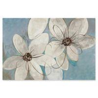 Trademark Fine Art Blue Neutral Floral 24-Inch x 16-Inch Canvas Wall Art