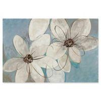 Trademark Fine Art Blue Neutral Floral 32-Inch x 22-Inch Canvas Wall Art