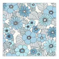 Eco Wallpaper Capriana Floral Burst Wallpaper in Light Blue