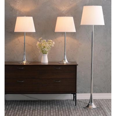 Buy 3 light table lamp from bed bath beyond kenroy home trapp lamps with fabric shades set of 3 mozeypictures Choice Image