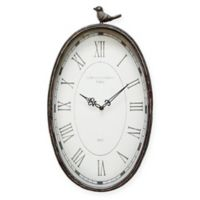 Stratton Home Decor 19.25-Inch x 10.75-Inch Antique Wall Clock in Teal
