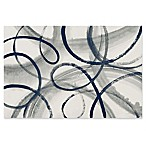 Trademark Fine Art Calligraphia Navy 24-Inch x 16-Inch Canvas Wall Art