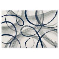 Trademark Fine Art Calligraphia Navy 32-Inch x 22-Inch Canvas Wall Art
