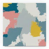 Trademark Fine Art Happy II 35-Inch Square Canvas Wall Art