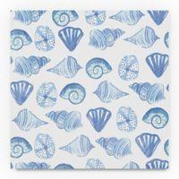Trademark Fine Art Coastal Shells Pattern IV 18-Inch Square Canvas Wall Art