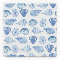 Trademark Fine Art Coastal Shells Pattern IV 24-Inch Square Canvas Wall Art