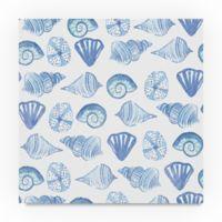 Trademark Fine Art Coastal Shells Pattern IV 35-Inch Square Canvas Wall Art