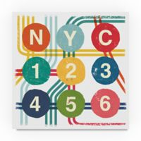 Trademark Fine Art New York City Life Subway 18-Inch Square Canvas Wall Art