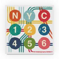 Trademark Fine Art New York City Life Subway 24-Inch Square Canvas Wall Art