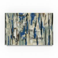Trademark Fine Art Spring Stripes 12-Inch x 19-Inch Canvas Wall Art