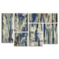 Trademark Fine Art 6-Panel Spring Stripes 45-Inch x 28-Inch Canvas Wall Art