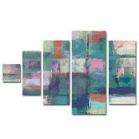 Trademark Fine Art Island Hues I Bright 44-Inch x 32-Inch Canvas Wall Art