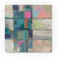 Trademark Fine Art Island Hues II Bright 24-Inch Square Canvas Wall Art