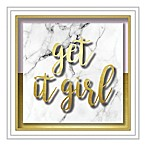 """Get it Girl"" 10-Inch Square Shadowbox Wall Art"