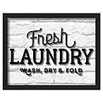 "Linden Ave ""Fresh Laundry"" 14-Inch x 11-Inch Shadowbox Wall Art"