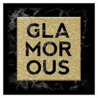 """Linden Ave """"Glamorous"""" Glitter 10-Inch Square Shadowbox Wall Art"""