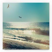 Trademark Fine Art Coastline Waves, No Words 35-Inch Square Canvas Wall Art