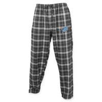 NFL Detroit Lions Men's Large Flannel Plaid Pajama Pant with Left Leg Team Logo