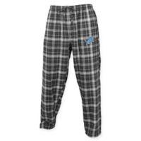 NFL Detroit Lions Men's 2XL Flannel Plaid Pajama Pant with Left Leg Team Logo