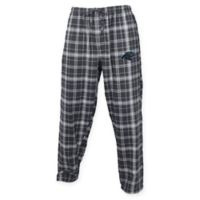 NFL Carolina Panthers Men's Small Flannel Plaid Pajama Pant with Left Leg Team Logo
