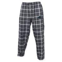 NFL Carolina Panthers Men's Large Flannel Plaid Pajama Pant with Left Leg Team Logo