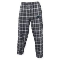 NFL Carolina Panthers Men's Extra-Large Flannel Plaid Pajama Pant with Left Leg Team Logo