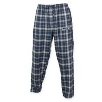 NFL Seattle Seahawks Men's Extra-Large Flannel Plaid Pajama Pant with Left Leg Team Logo