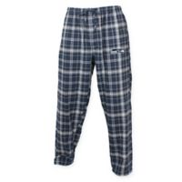 NFL Seattle Seahawks Men's 2XL Flannel Plaid Pajama Pant with Left Leg Team Logo