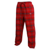 NFL Tampa Bay Buccaneers Men's Small Flannel Plaid Pajama Pant with Left Leg Team Logo